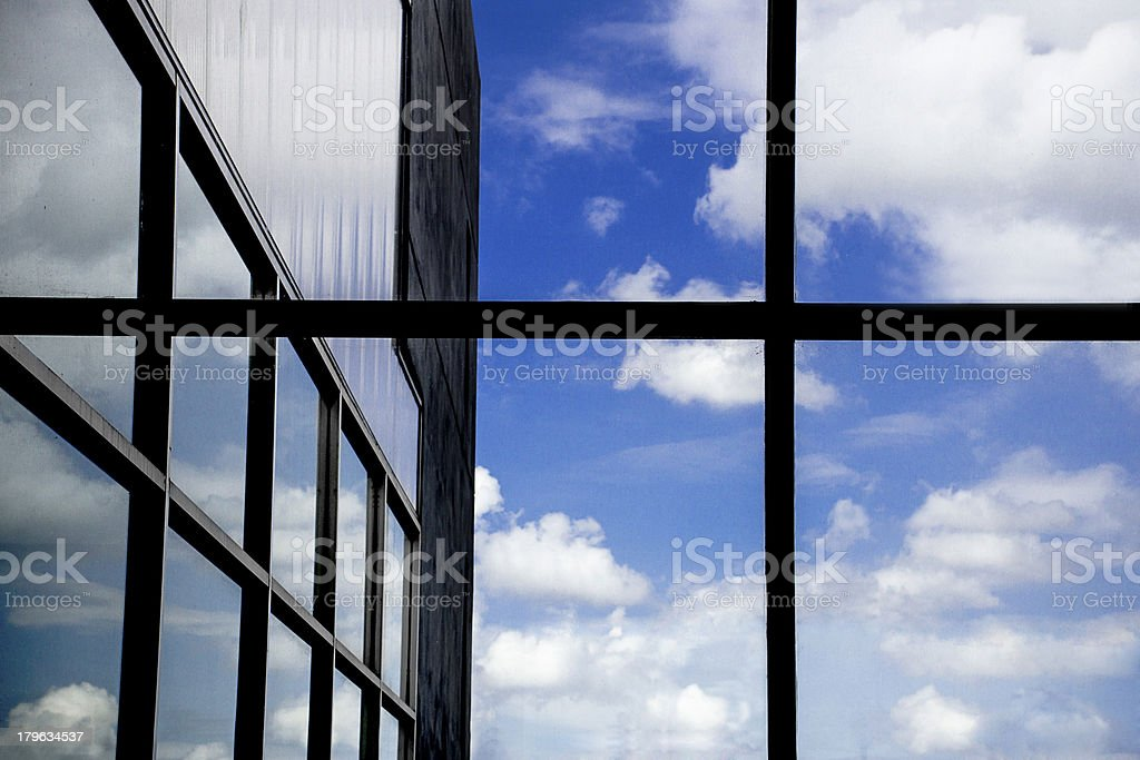 Blue Sky Reflection royalty-free stock photo