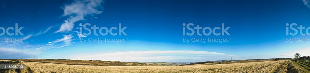 Blue sky rural landscape background royalty-free stock photo