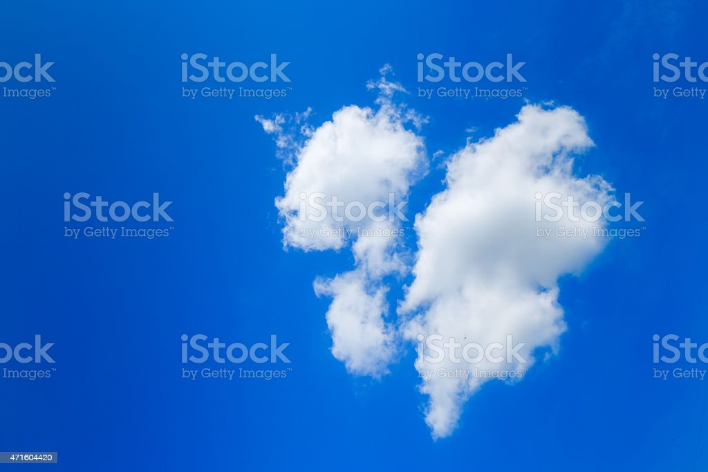 Blue sky same broken heart stock photo