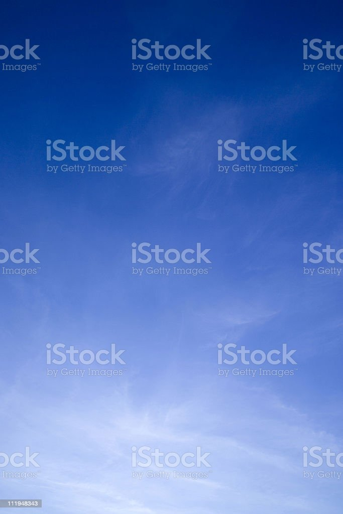 Blue sky thinking stock photo