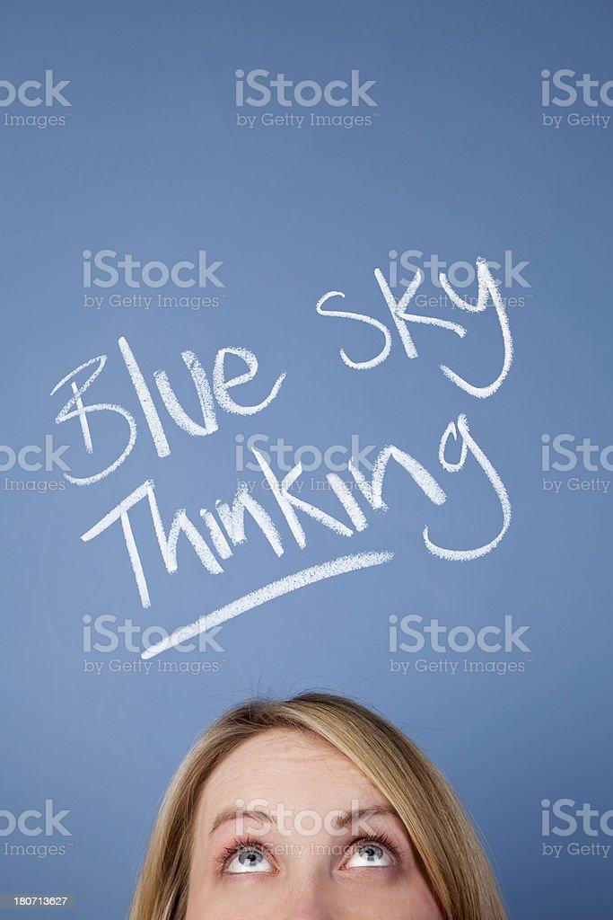Blue sky thinking royalty-free stock photo