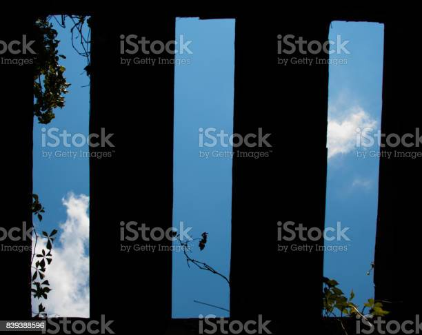 Blue Sky through Old Railroad Trestle
