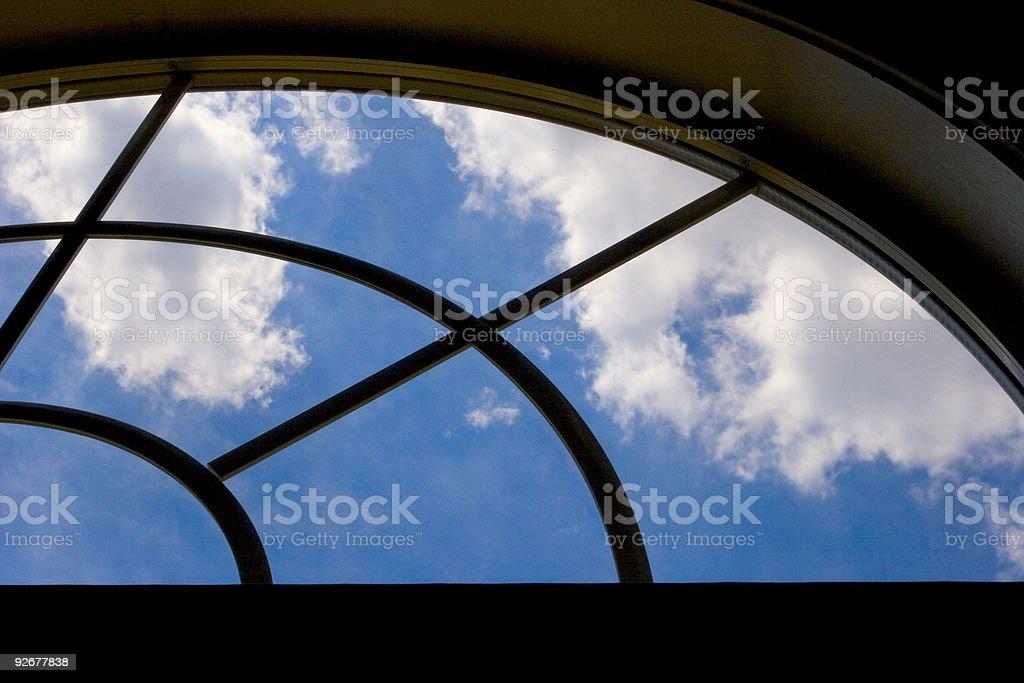 Blue Sky through Window royalty-free stock photo