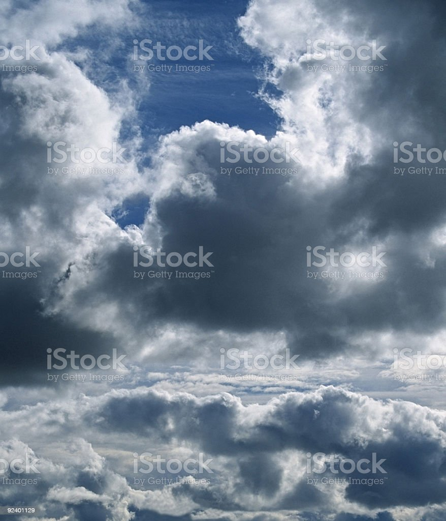 Blue sky vertical panorama royalty-free stock photo
