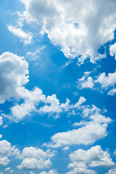 blue sky white cloud stock photo