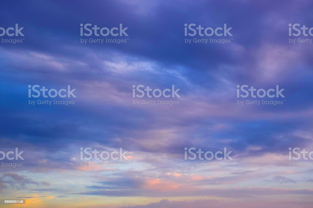 Blue sky white clouds background stock photo