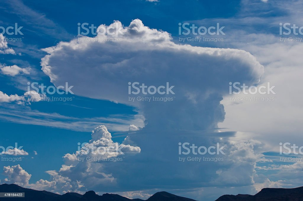 Blue Sky White Clouds Landscape stock photo