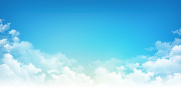 istock Blue sky white clouds 821217682