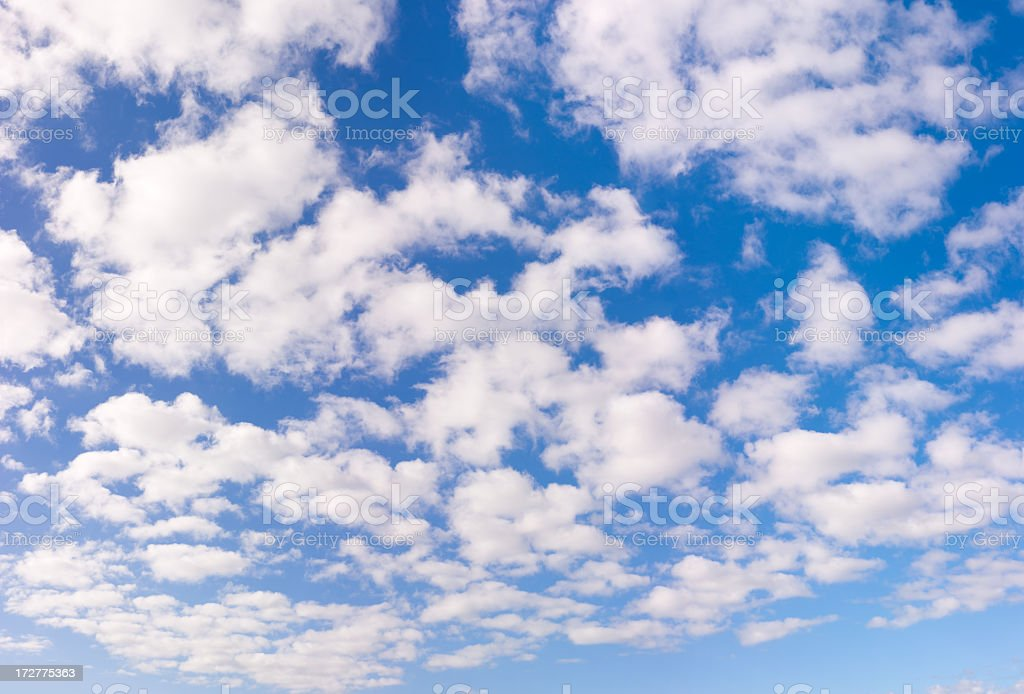 Blue Sky White Clouds XXL - 133 Megapixel royalty-free stock photo
