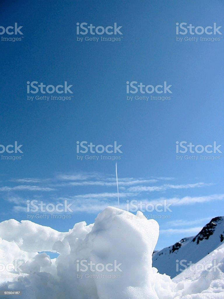 Blue sky, white snow #2 royalty-free stock photo