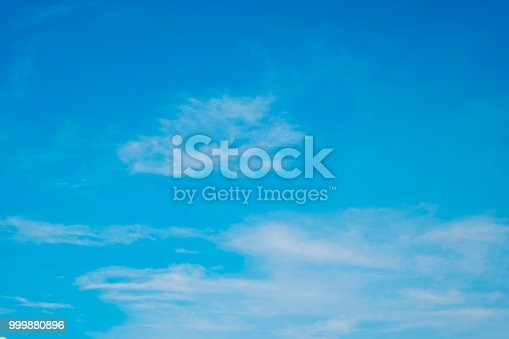 istock Blue sky with a little clouds fro background and wallpaper 999880896