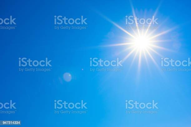 Photo of Blue sky with bright sun