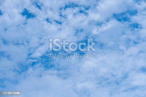 807443942 istock photo Blue sky with cloud background 1213910266