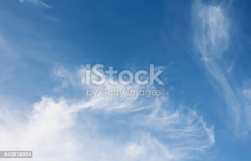 istock blue sky with cloud 643816934