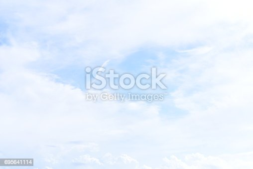 istock blue sky with cloud 695641114