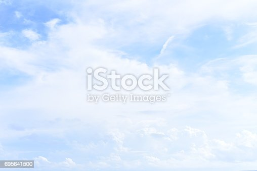 istock blue sky with cloud 695641500
