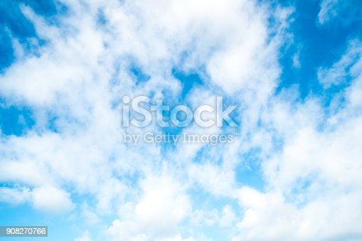 807443942 istock photo Blue sky with cloud 908270766