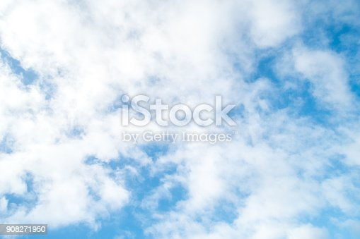 istock Blue sky with cloud 908271950