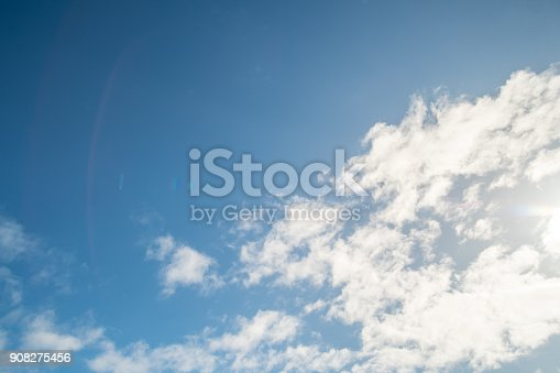 807443942 istock photo Blue sky with cloud 908275456