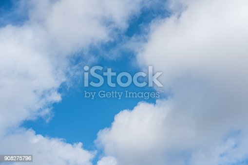 807443942 istock photo Blue sky with cloud 908275796