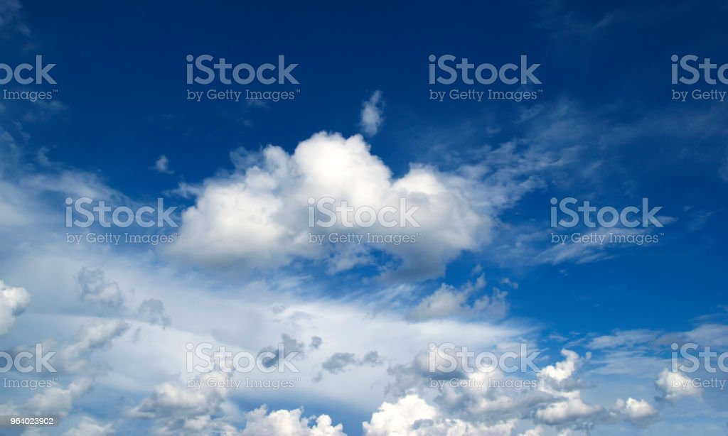 blue sky with cloud - Royalty-free Blue Stock Photo