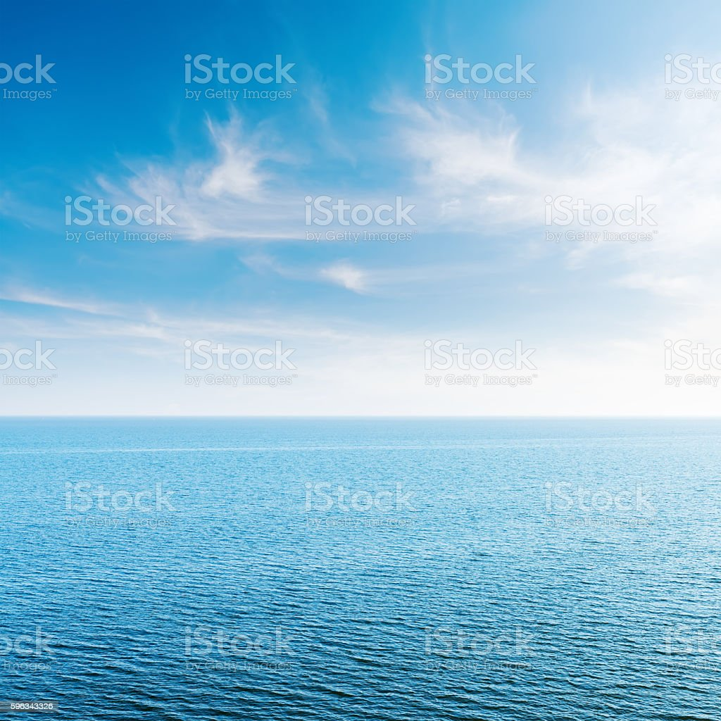 blue sky with clouds and sea royalty-free stock photo