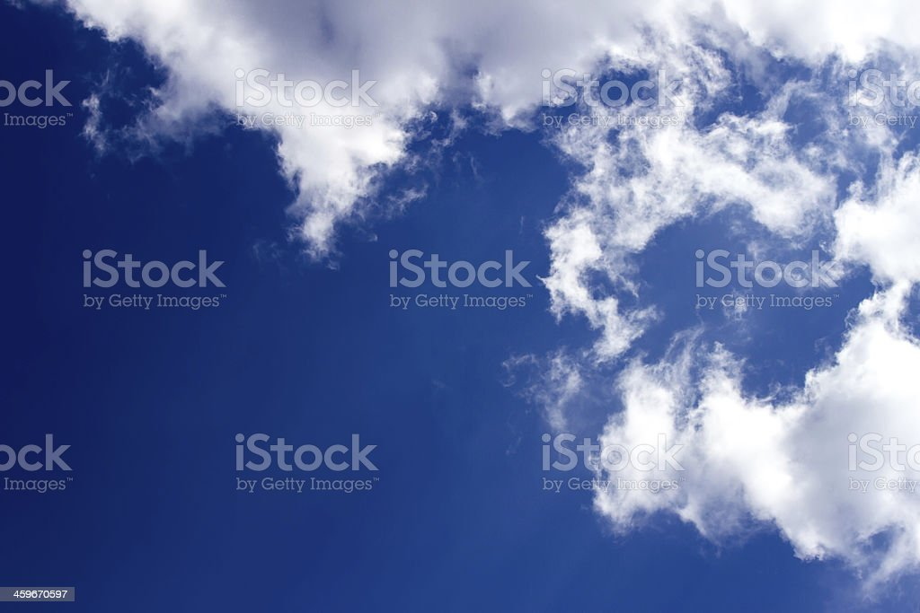 Blue sky with clouds as a background royalty-free stock photo