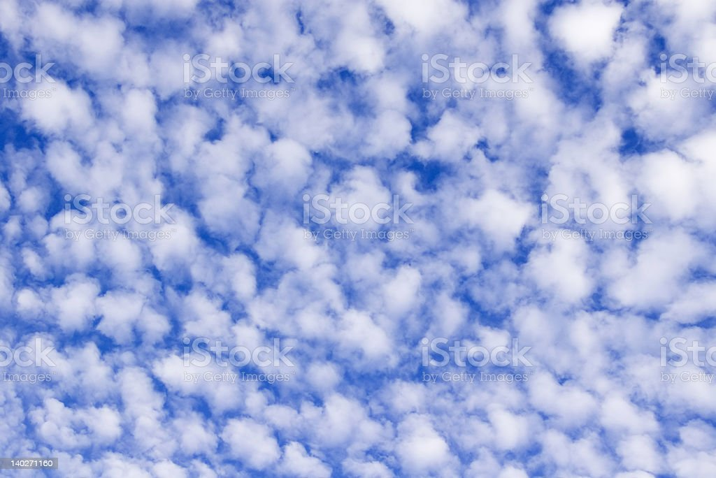 Blue sky with clouds - background royalty-free stock photo
