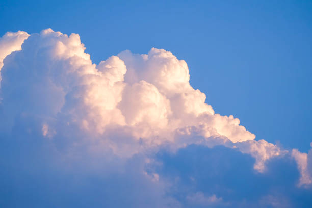 Blue sky with clouds for background texture stock photo