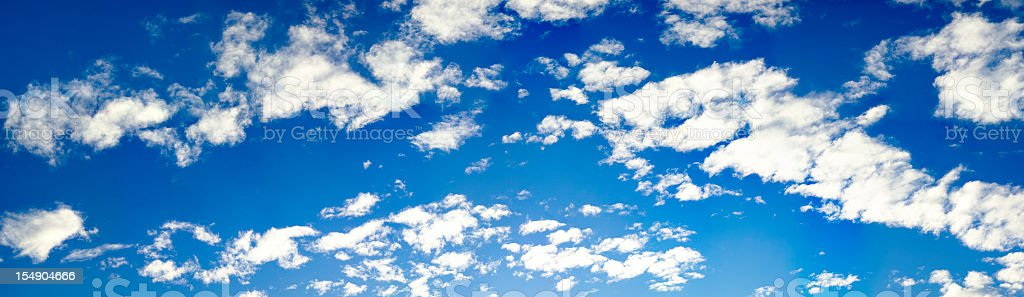 blue sky with clouds (260 Megapixel!!!) high resolution XXXL royalty-free stock photo