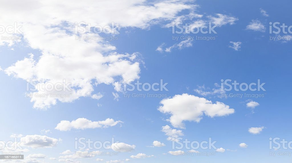blue sky with clouds high resolution XXXL royalty-free stock photo