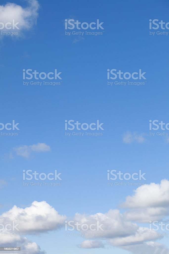 Blue sky with clouds meteorology royalty-free stock photo