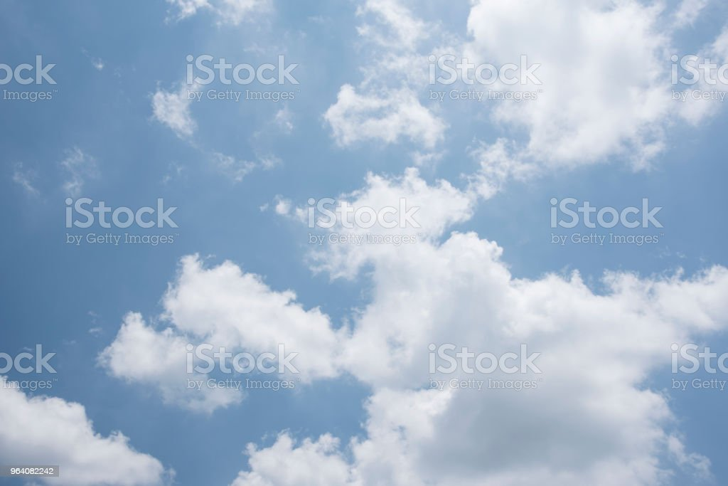 Blue sky with clouds natural view, - Royalty-free Abstract Stock Photo