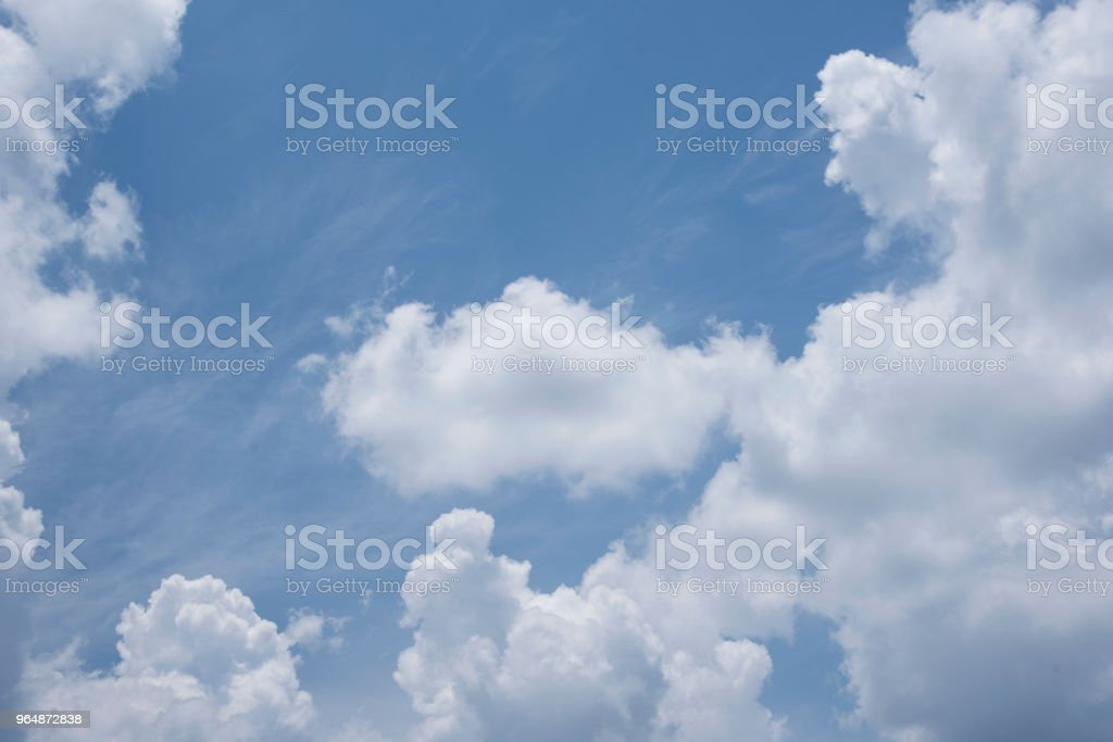 Blue sky with clouds natural view, royalty-free stock photo