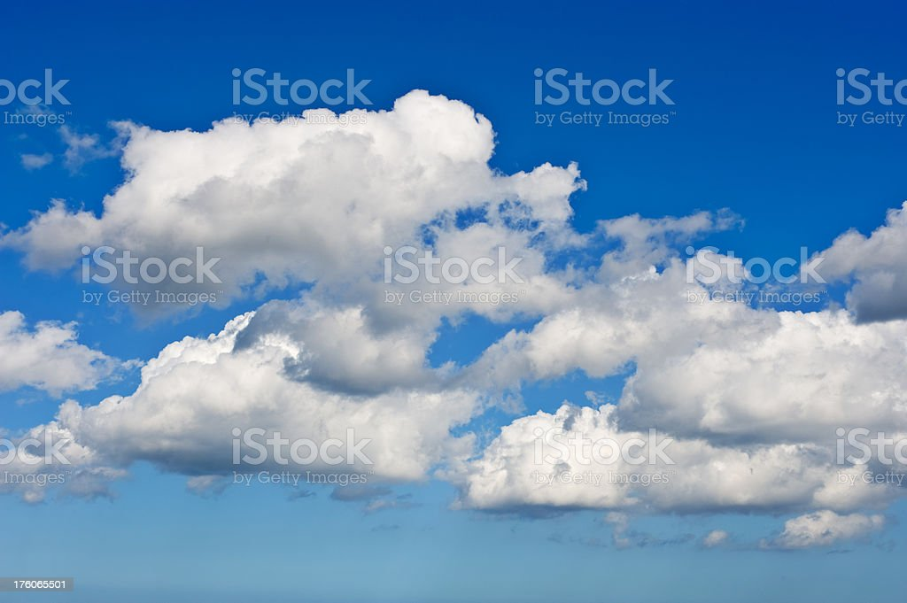 Blue Sky with Clouds Panorama stock photo