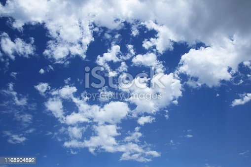 istock Blue sky with clouds 1168904892