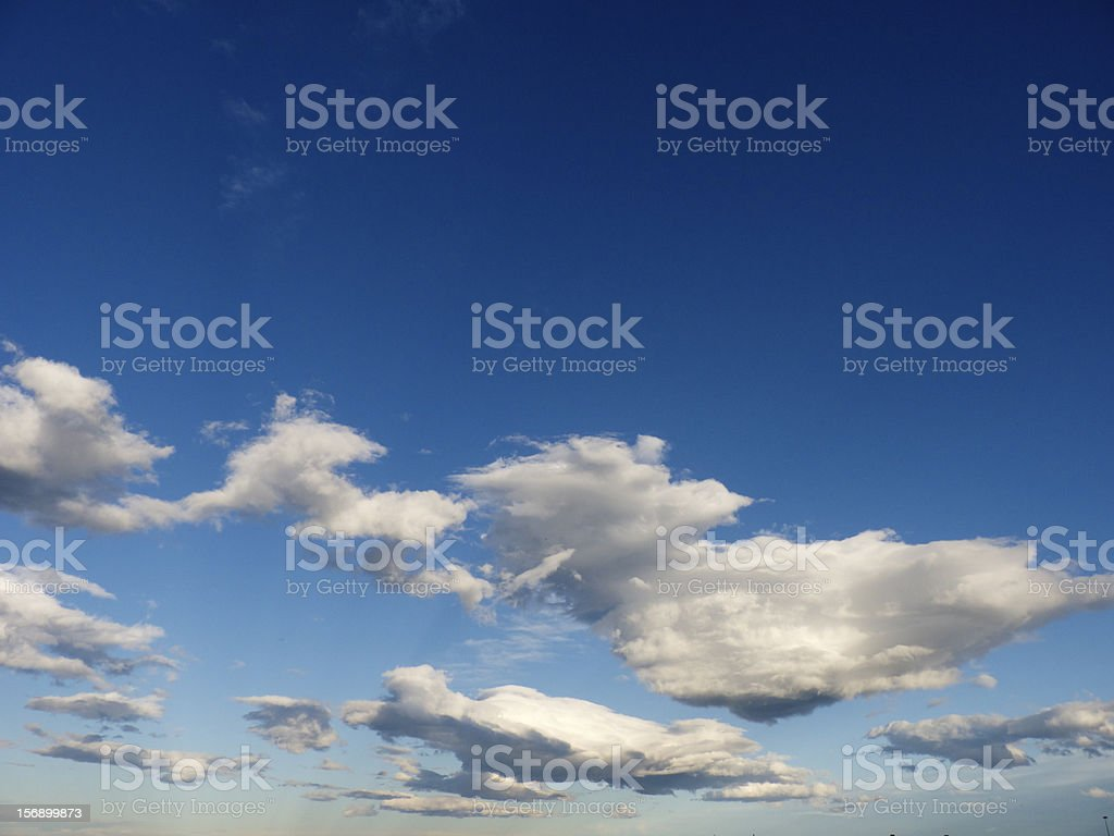 Blue sky with clouds royalty-free stock photo