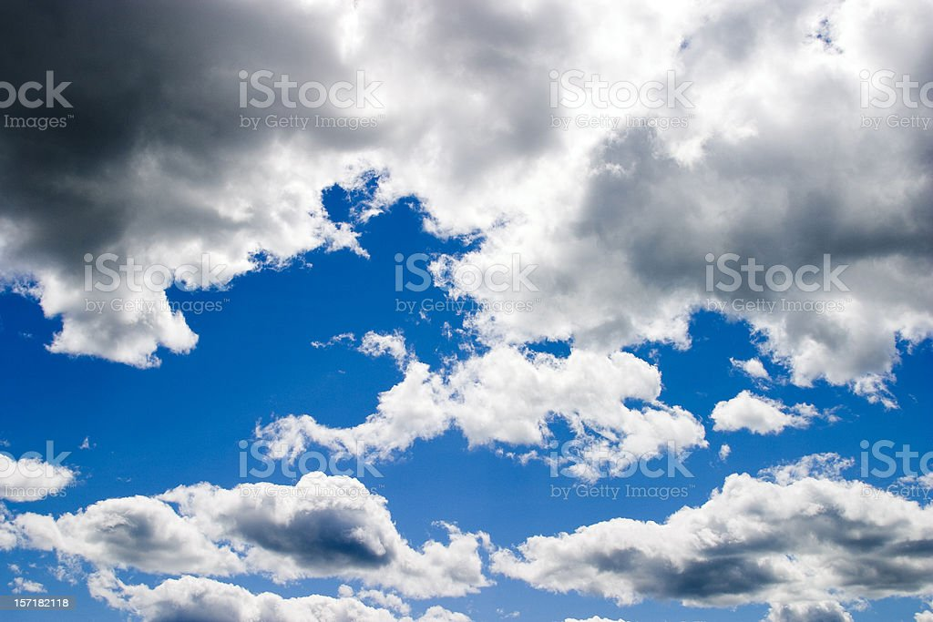 Blue Sky with Clouds #3 royalty-free stock photo