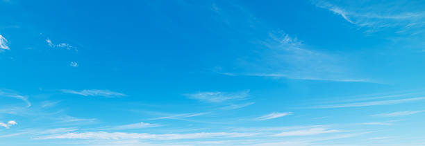 blue sky with clouds - clear sky stock pictures, royalty-free photos & images