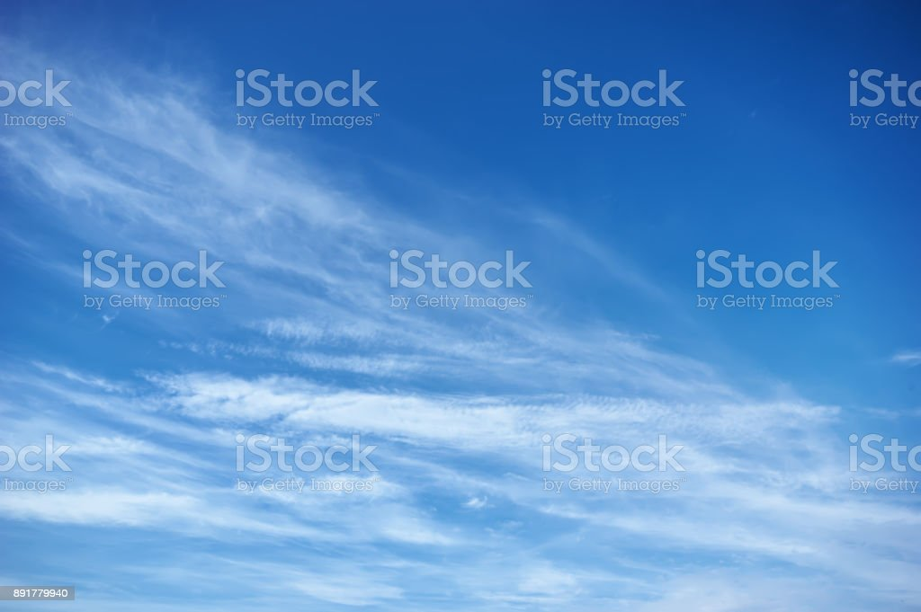 Blue sky with clouds. Sky background stock photo