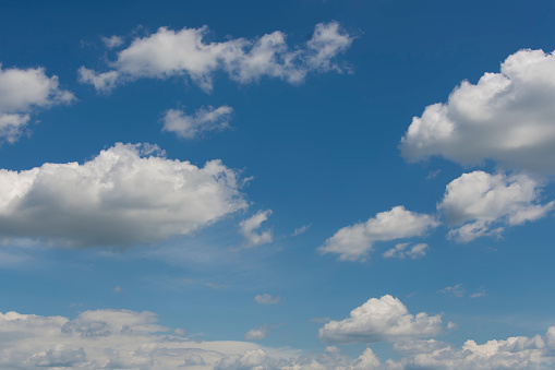937694668 istock photo Blue sky with clouds,summer sky,nature background. 1130328546
