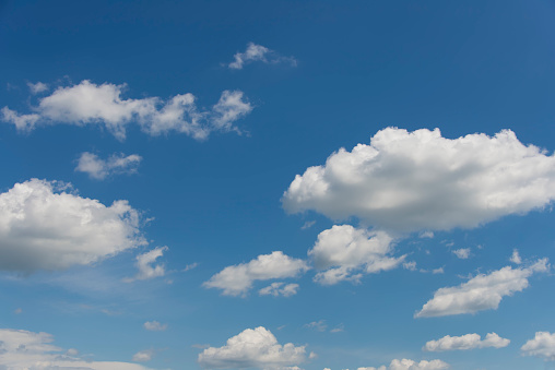 937694668 istock photo Blue sky with clouds,summer sky,nature background. 1130328554