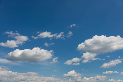 937694668 istock photo Blue sky with clouds,summer sky,nature background. 1130328581