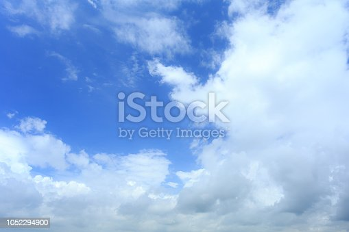 937694668istockphoto Blue sky with cloud,summer sky,nature background 1052294900