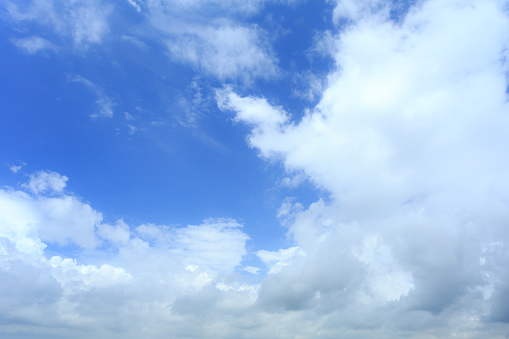 937694668 istock photo Blue sky with cloud,summer sky,nature background 1052294900