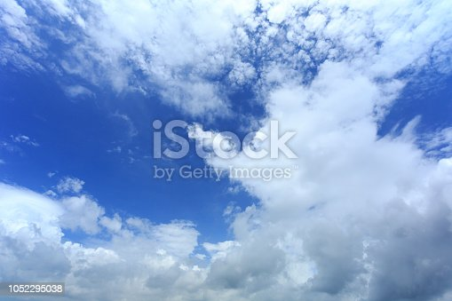 937694668istockphoto Blue sky with cloud,summer sky,nature background 1052295038