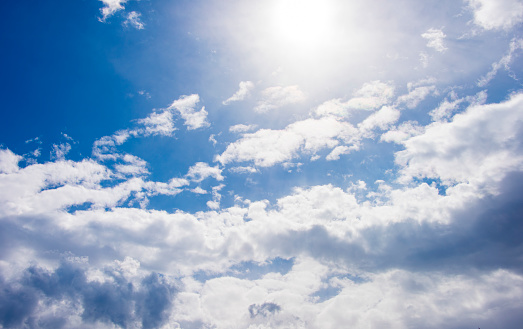 937694668 istock photo Blue sky with cloud,summer sky,nature background 1151990632