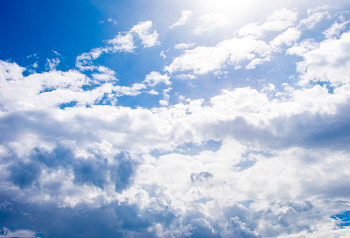 937694668 istock photo Blue sky with cloud,summer sky,nature background 1151991171