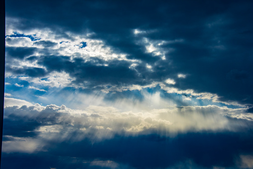 937694668 istock photo Blue sky with cloud,summer sky,nature background 1151991462
