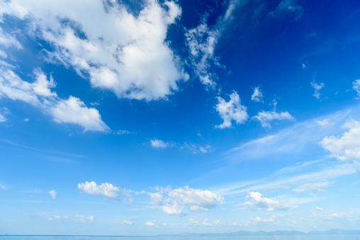 937694668 istock photo Blue sky with cloud,summer sky,nature background 937694666